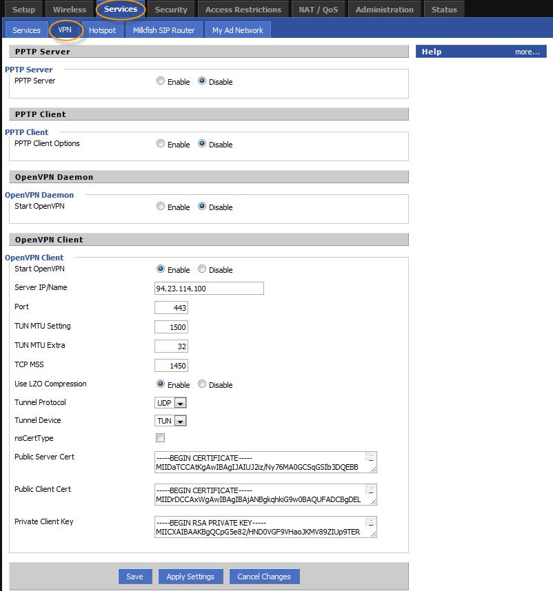 Demo server ip