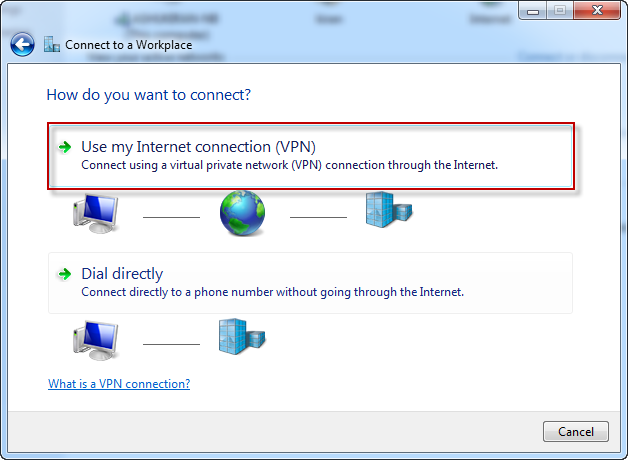 Step 3 - Ace PPTP VPN - Connect to a workplace - Use my Internet connection