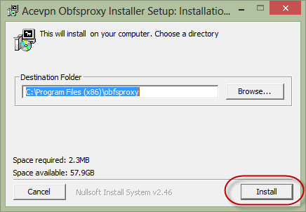 Install Acevpn Obfsproxy