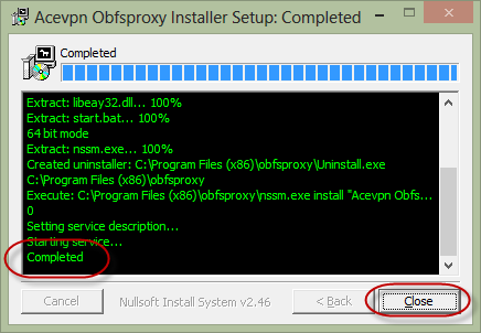 Install Acevpn Obfsproxy Complete