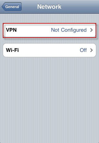 how to use vpn on ipod