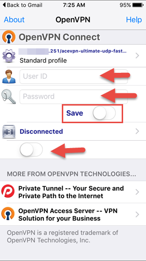 how to get vpn username and password