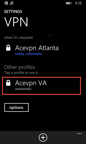 VPN Profile Created