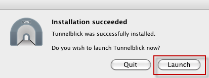 Launch Tunnelblick