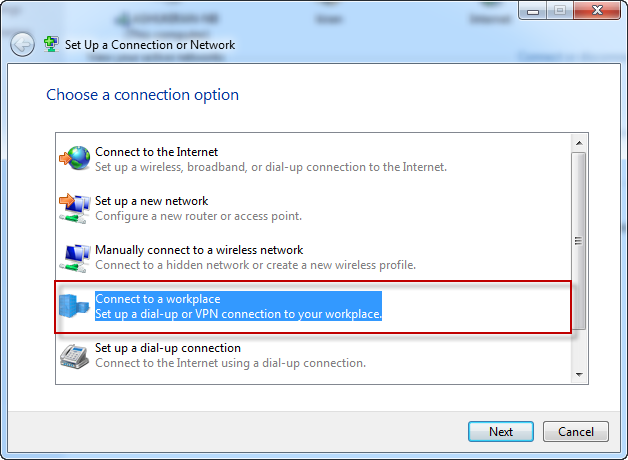 Step 2 - Ace L2TP VPN - Setup a Connection or Network